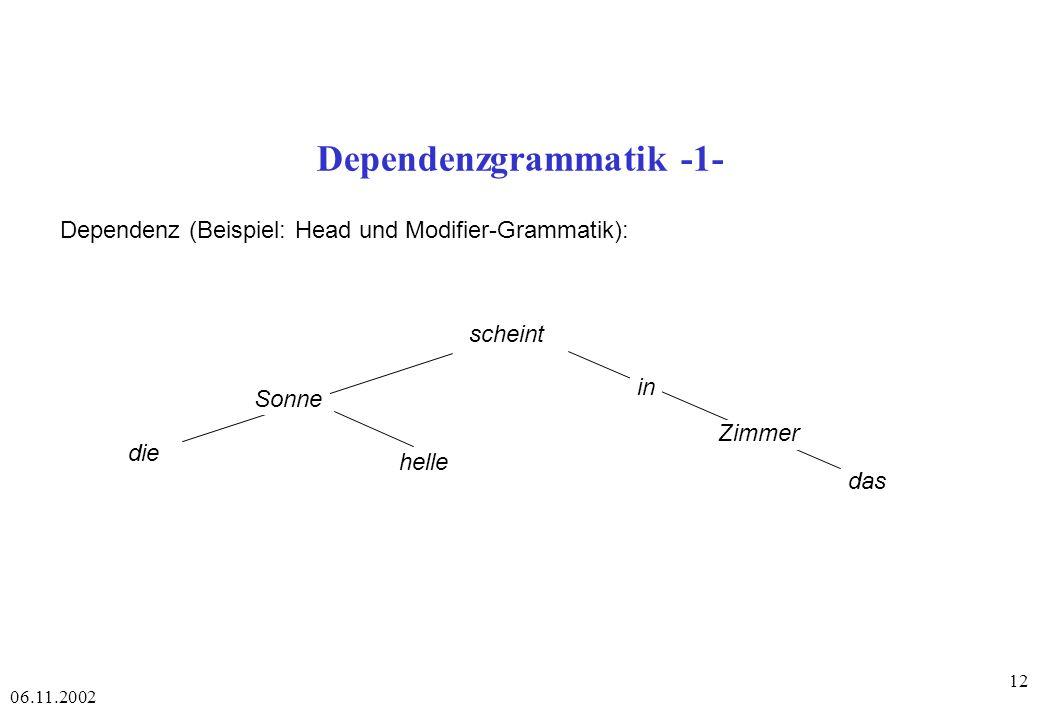 Dependenzgrammatik -1-