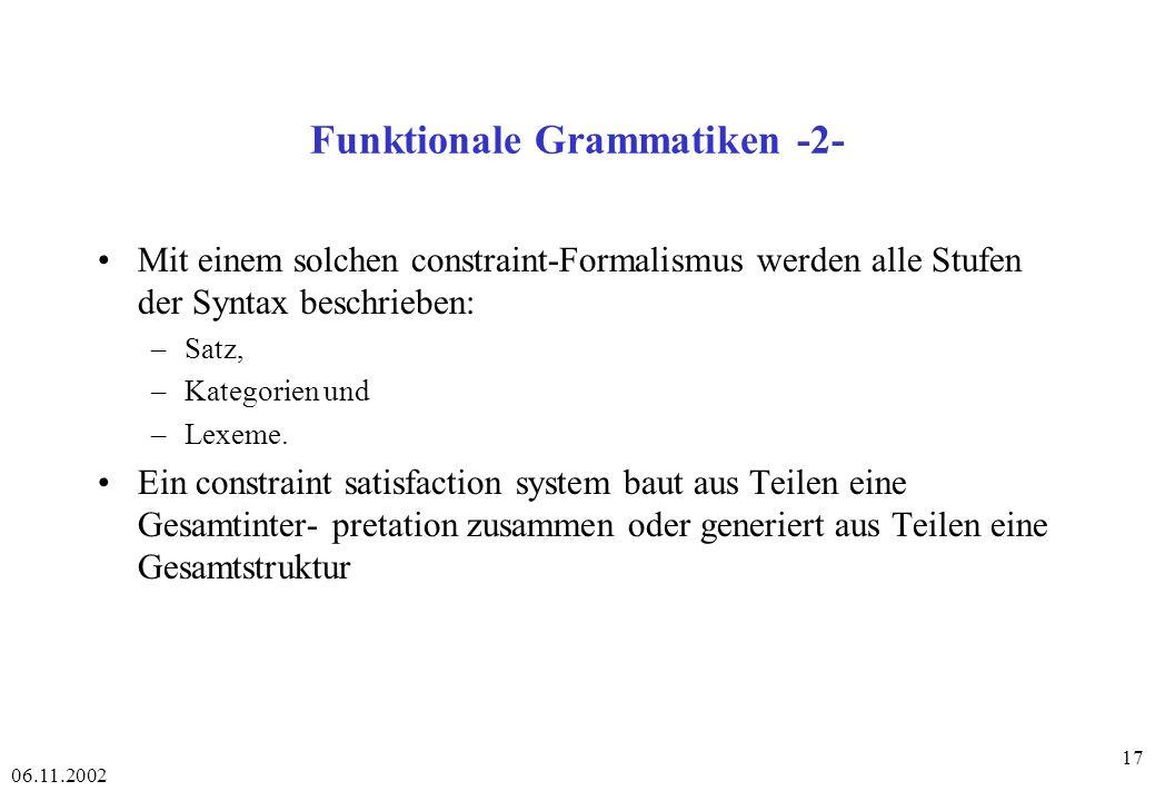 Funktionale Grammatiken -2-