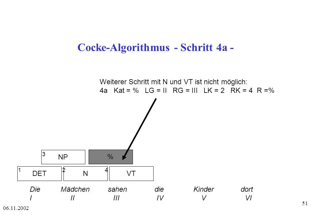 Cocke-Algorithmus - Schritt 4a -