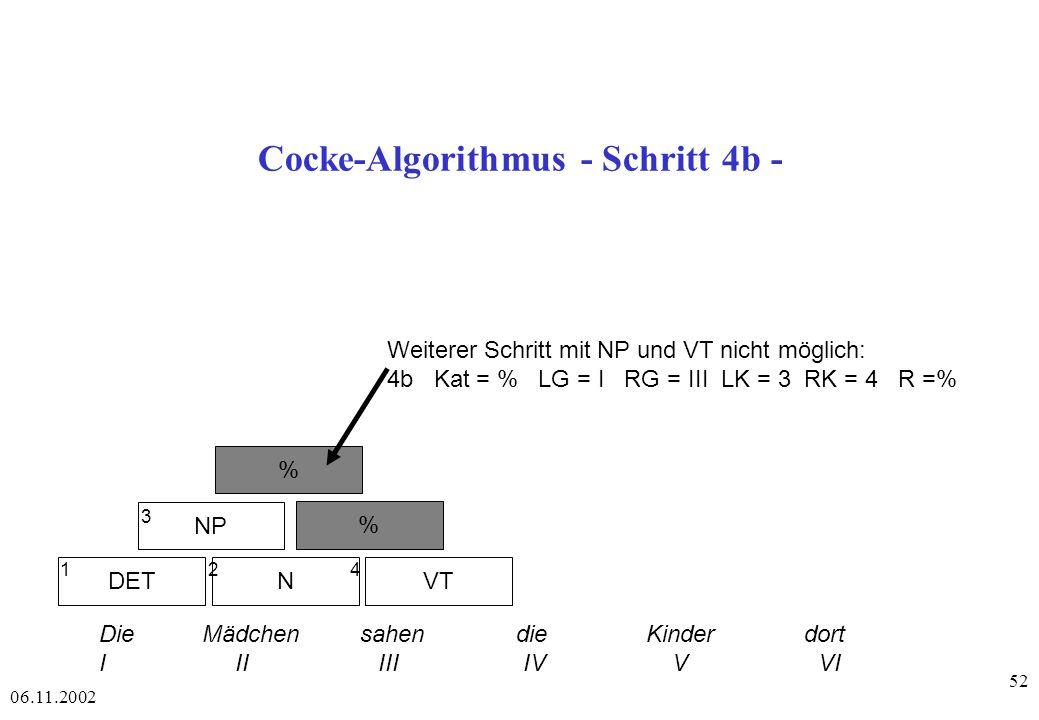 Cocke-Algorithmus - Schritt 4b -