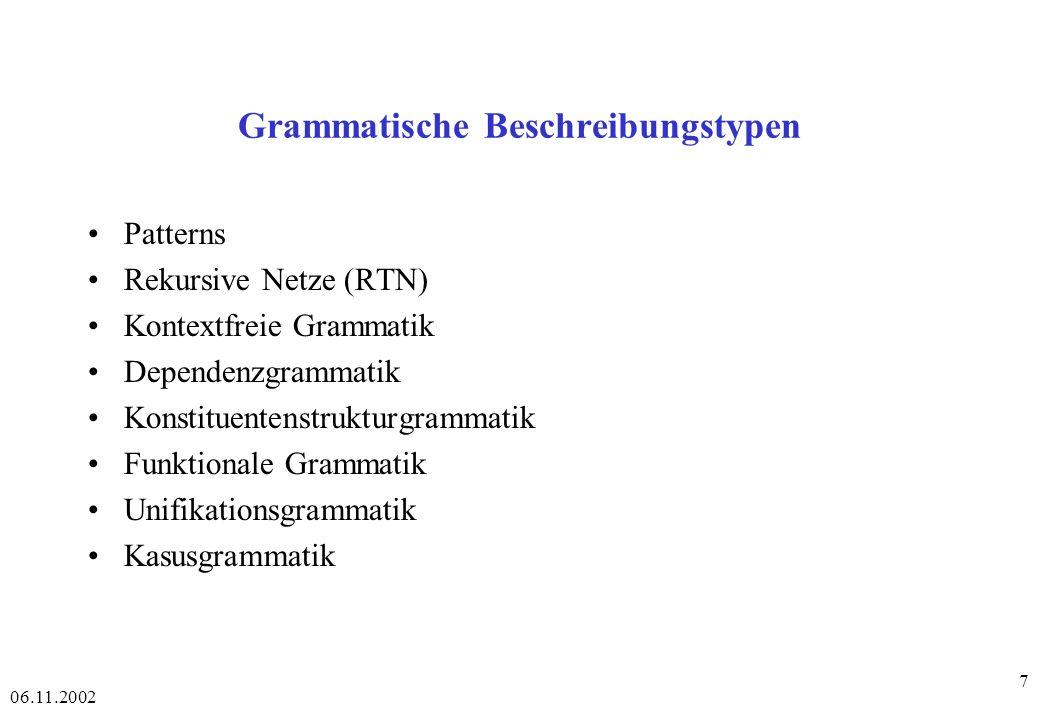 Grammatische Beschreibungstypen