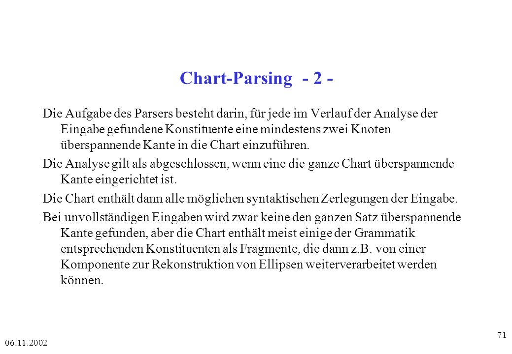 Chart-Parsing - 2 -