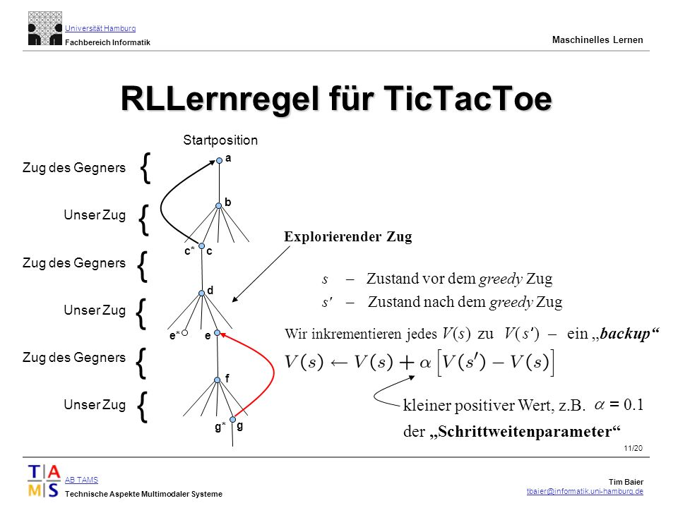 RLLernregel für TicTacToe
