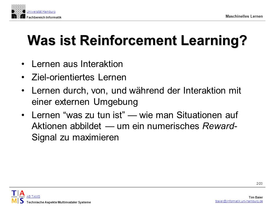 Was ist Reinforcement Learning