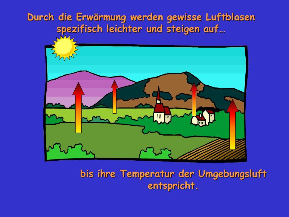 bis ihre Temperatur der Umgebungsluft entspricht.
