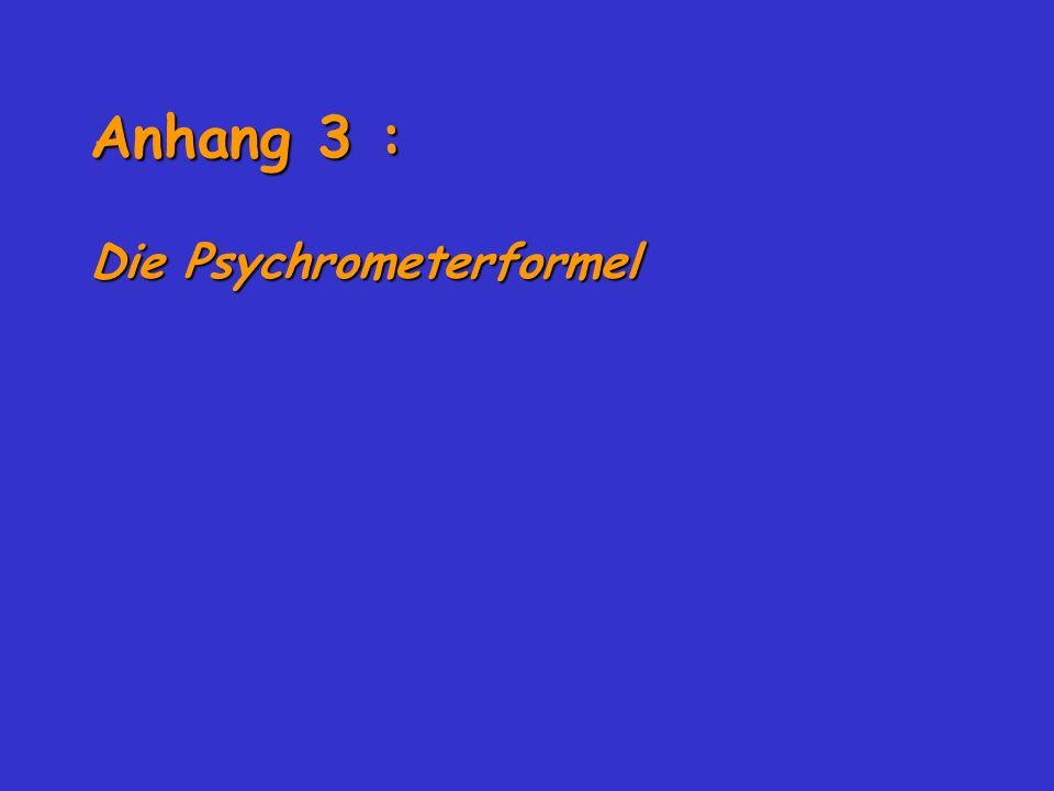Anhang 3 : Die Psychrometerformel