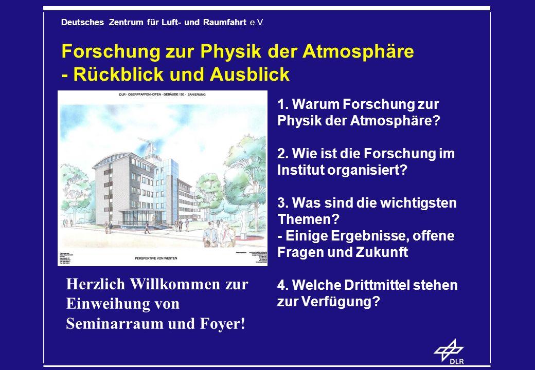 Forschung zur Physik der Atmosphäre - Rückblick und Ausblick
