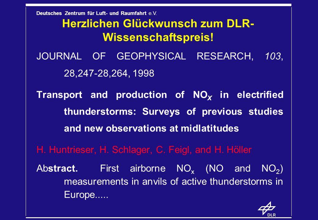 Herzlichen Glückwunsch zum DLR-Wissenschaftspreis!