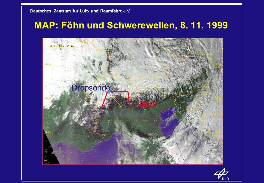 MAP: Föhn und Schwerewellen, 8. 11. 1999