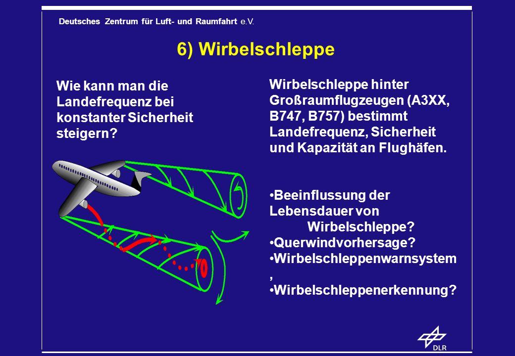 6) Wirbelschleppe Wie kann man die Landefrequenz bei konstanter Sicherheit steigern