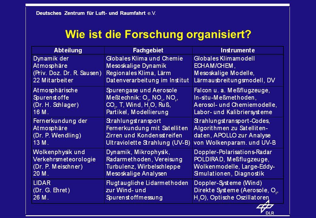 Wie ist die Forschung organisiert
