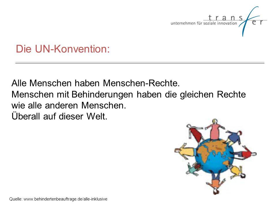 Die UN-Konvention: Alle Menschen haben Menschen-Rechte.