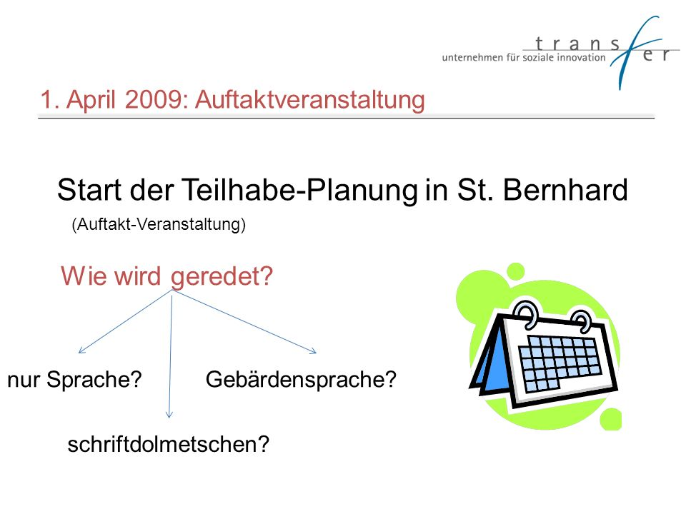 Start der Teilhabe-Planung in St. Bernhard