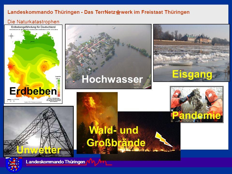Eisgang Hochwasser Erdbeben Pandemie Wald- und Großbrände Unwetter