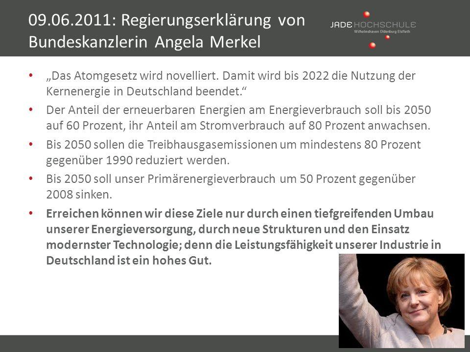 09.06.2011: Regierungserklärung von Bundeskanzlerin Angela Merkel