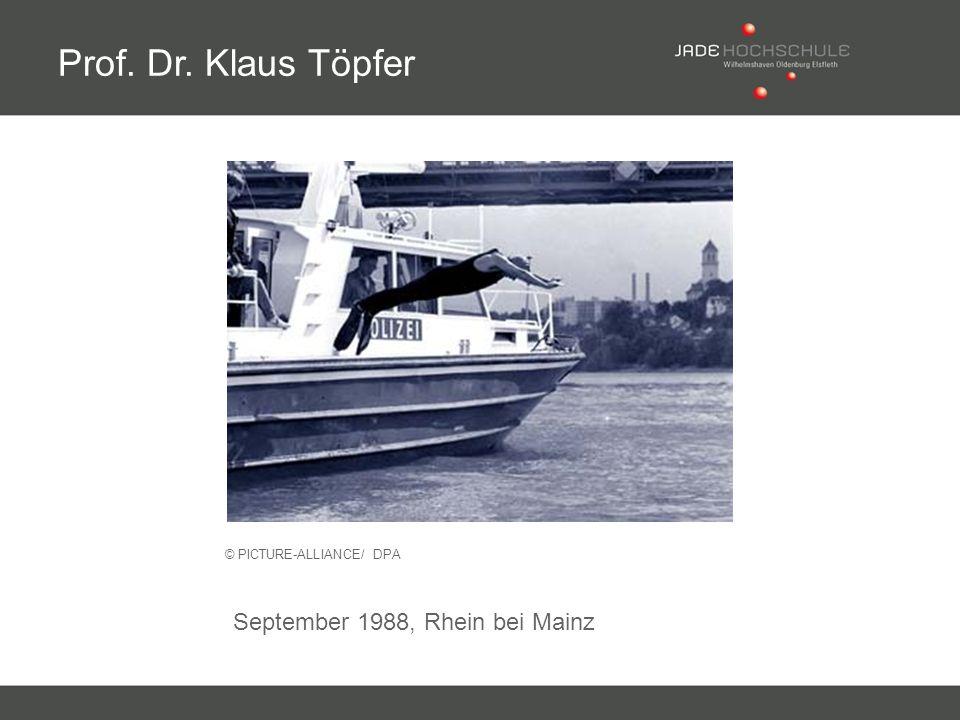 Prof. Dr. Klaus Töpfer September 1988, Rhein bei Mainz