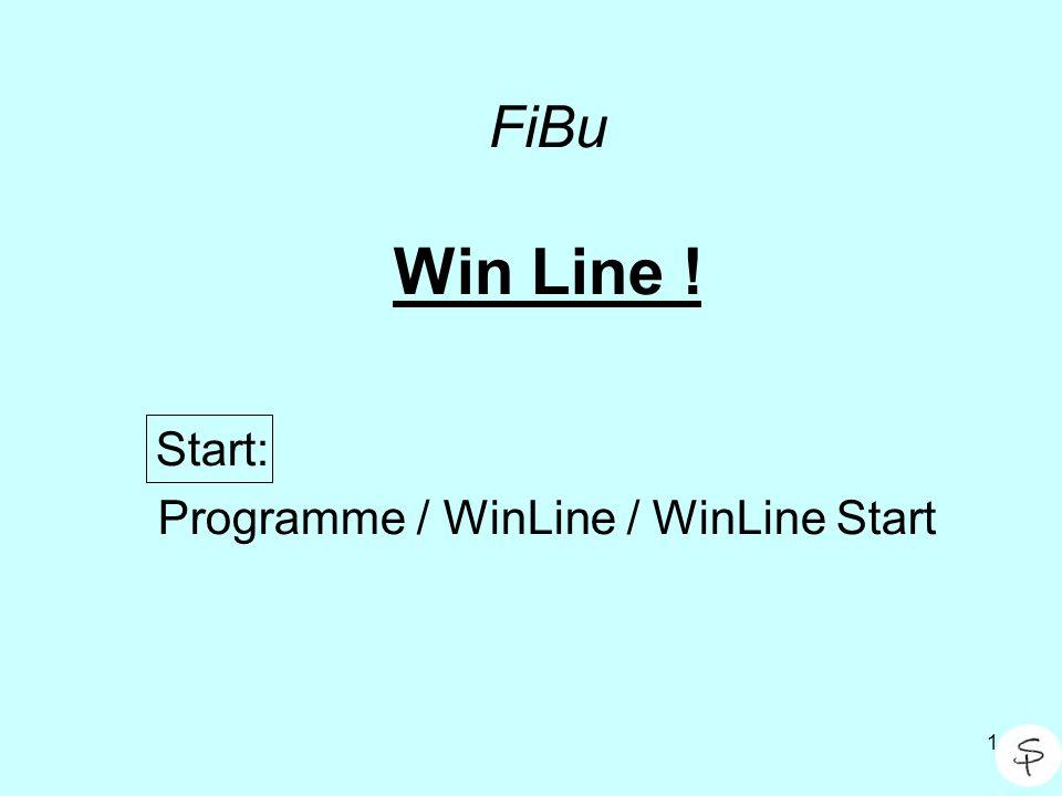 Start: Programme / WinLine / WinLine Start