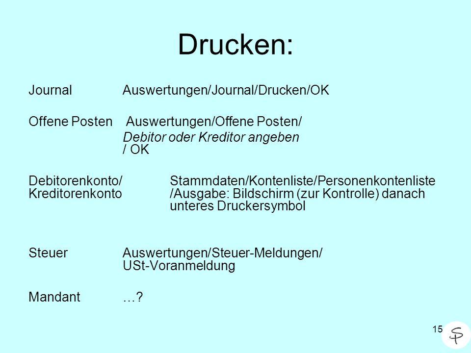 Drucken: Journal Auswertungen/Journal/Drucken/OK