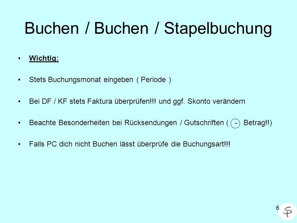 Buchen / Buchen / Stapelbuchung