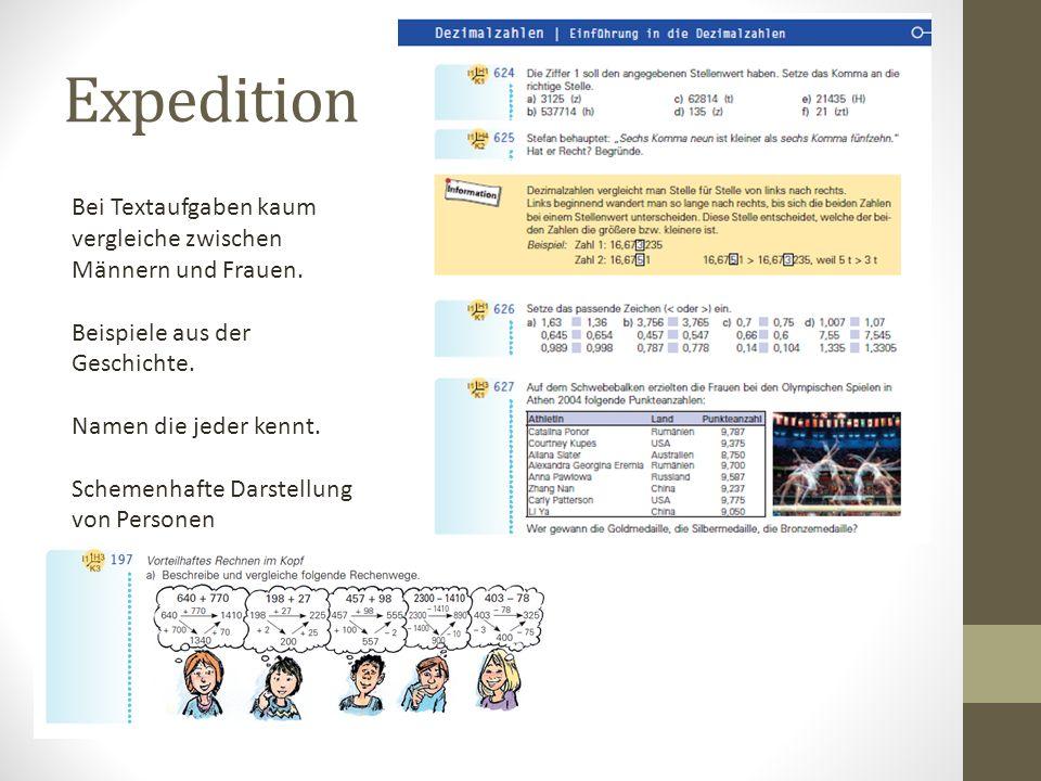 Expedition Bei Textaufgaben kaum vergleiche zwischen Männern und Frauen. Beispiele aus der Geschichte.