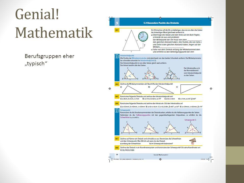 "Genial! Mathematik Berufsgruppen eher ""typisch"