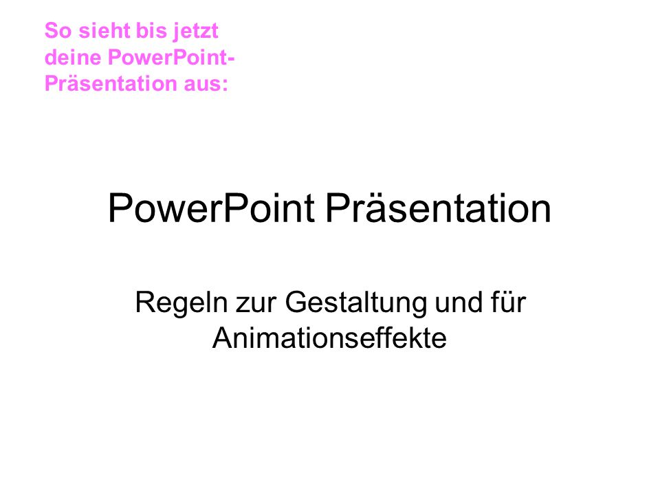 PowerPoint Präsentation