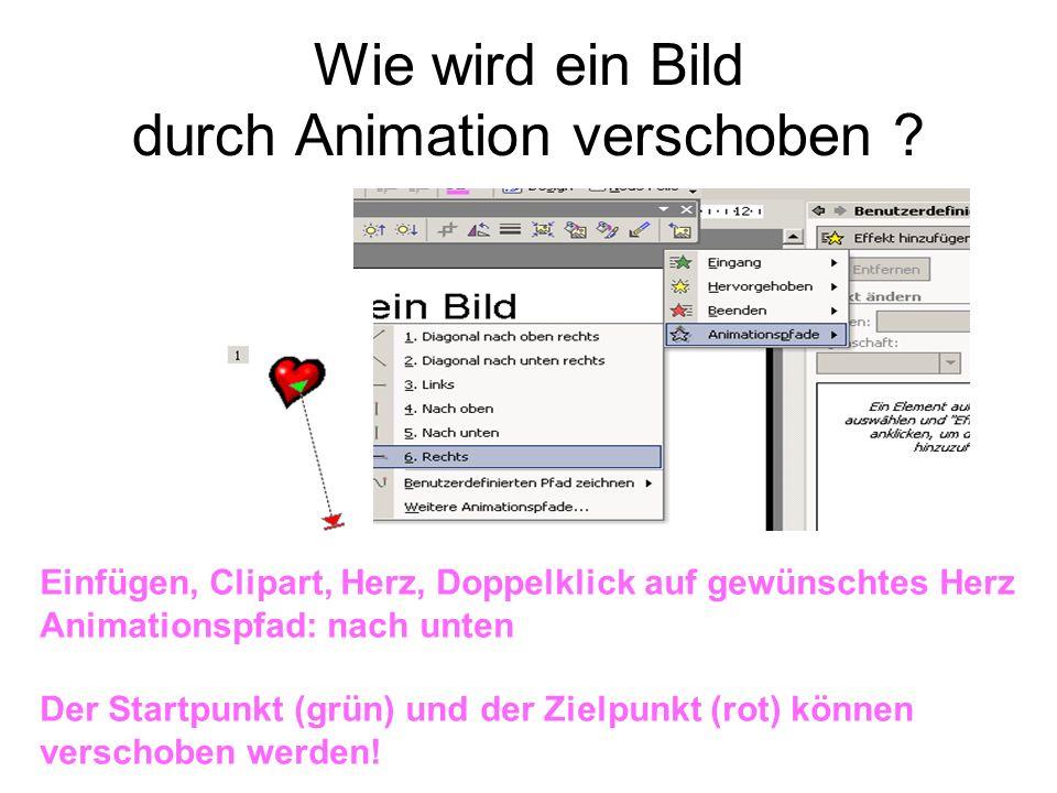 Wie wird ein Bild durch Animation verschoben