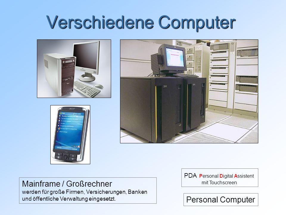 Verschiedene Computer