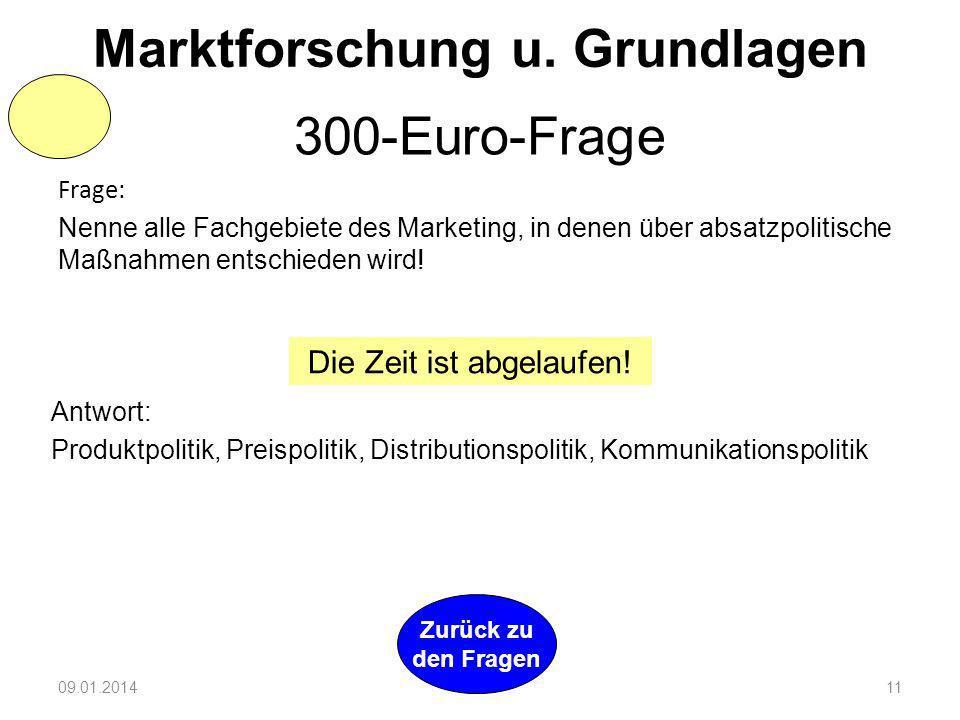 Marktforschung u. Grundlagen