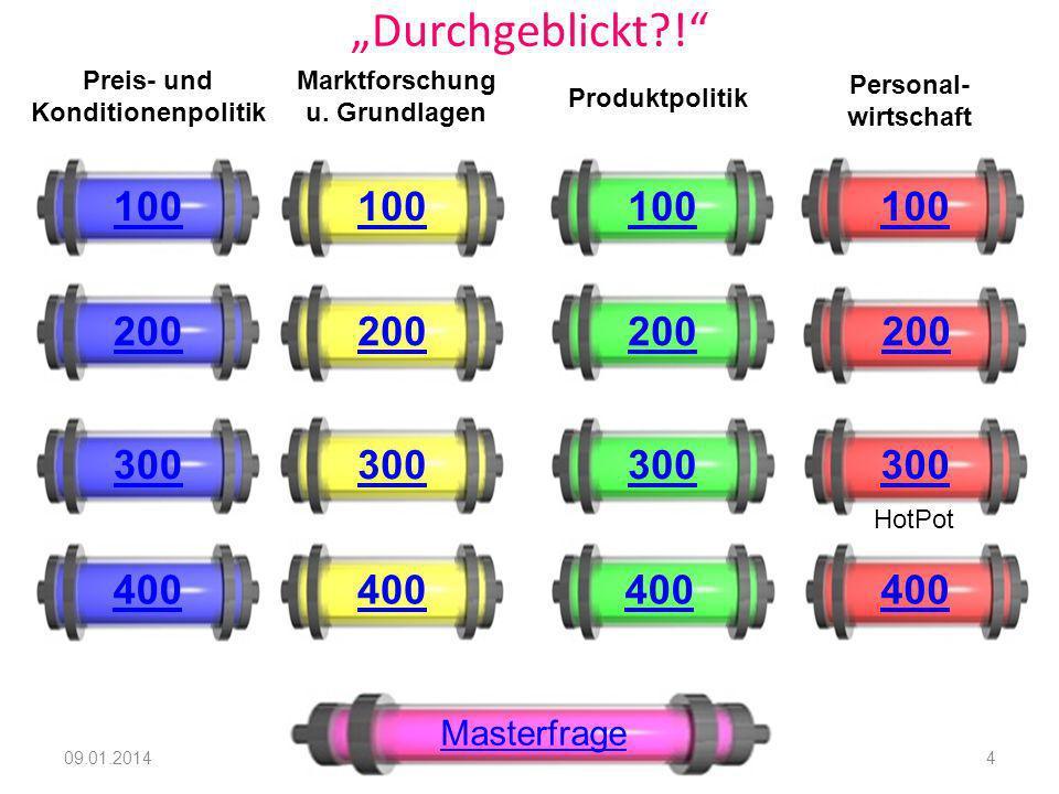 Preis- und Konditionenpolitik Marktforschung u. Grundlagen