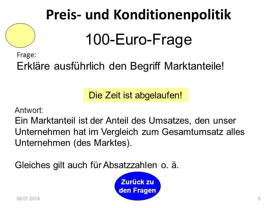 Preis- und Konditionenpolitik
