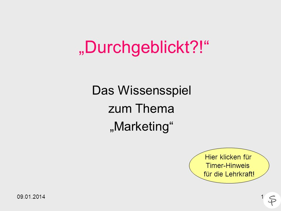 """Das Wissensspiel zum Thema """"Marketing"""