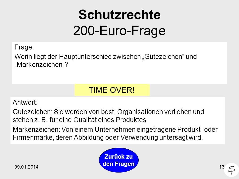 Schutzrechte 200-Euro-Frage