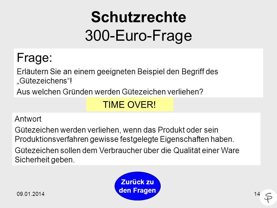Schutzrechte 300-Euro-Frage