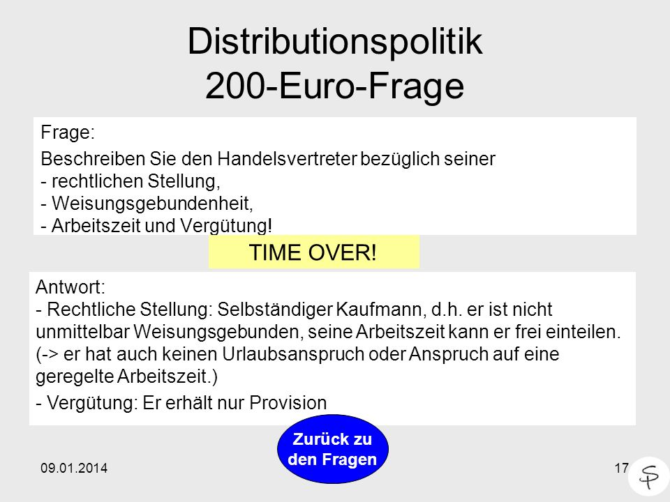 Distributionspolitik 200-Euro-Frage