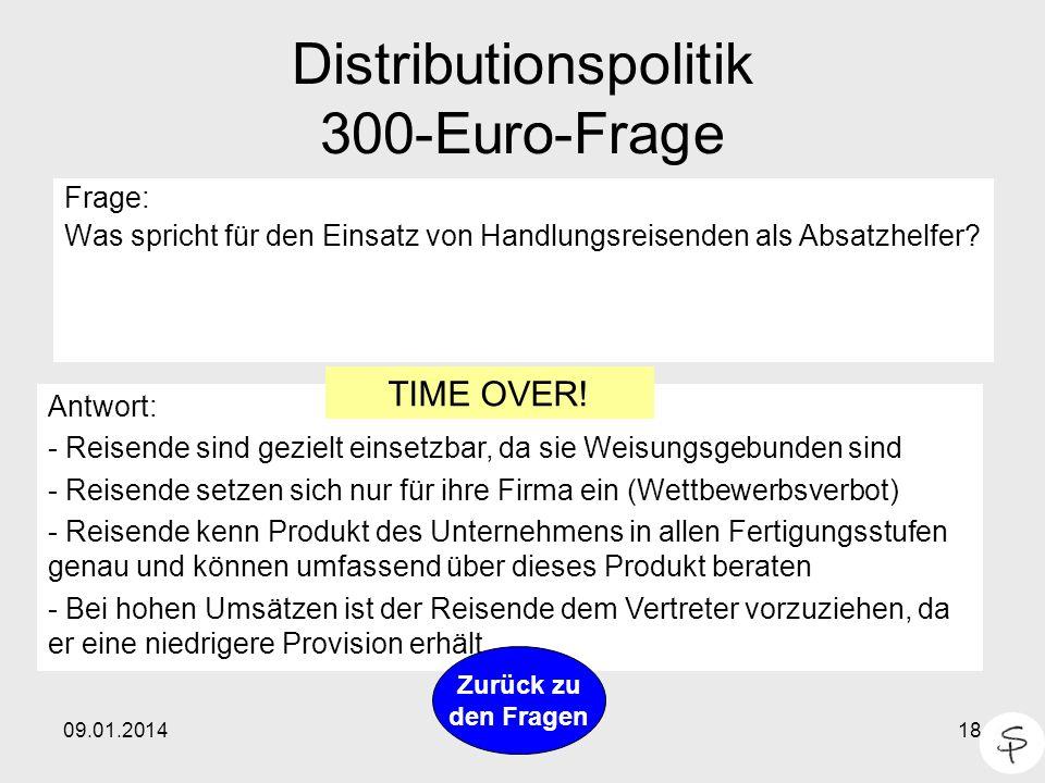 Distributionspolitik 300-Euro-Frage