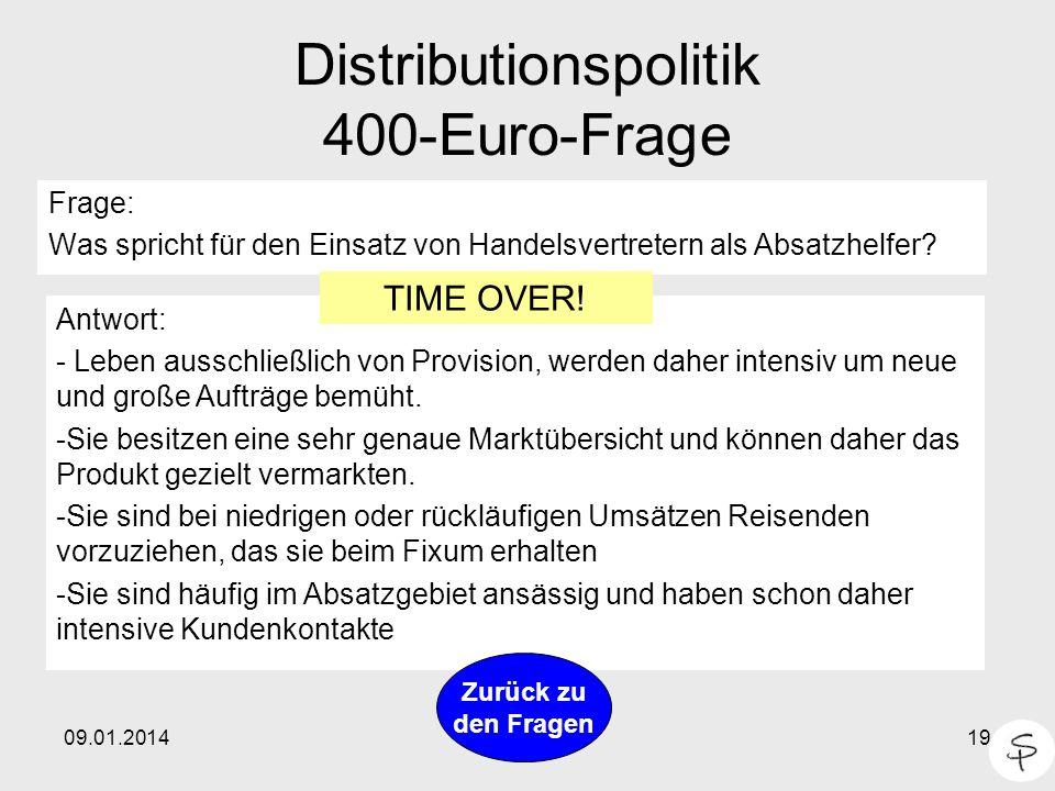 Distributionspolitik 400-Euro-Frage