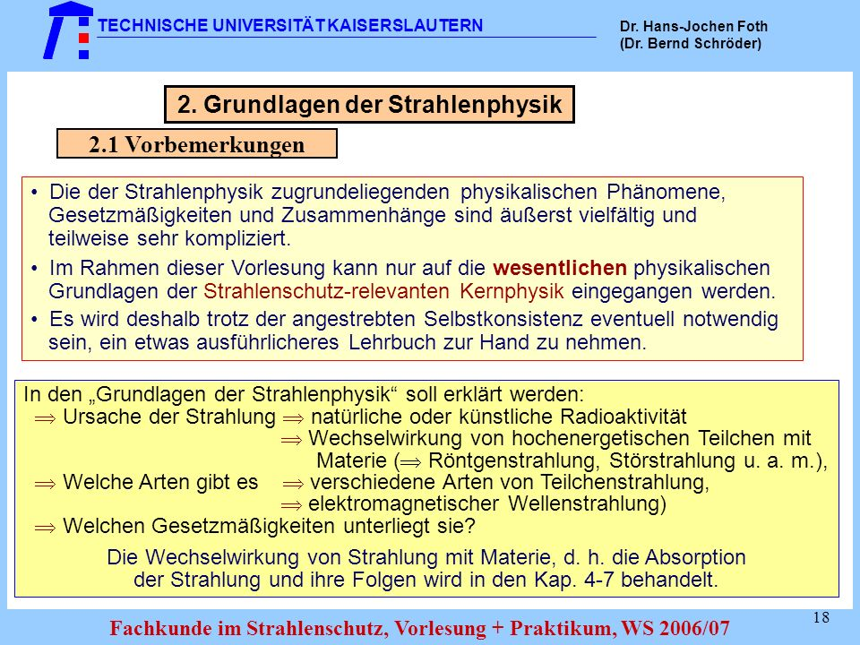 2. Grundlagen der Strahlenphysik