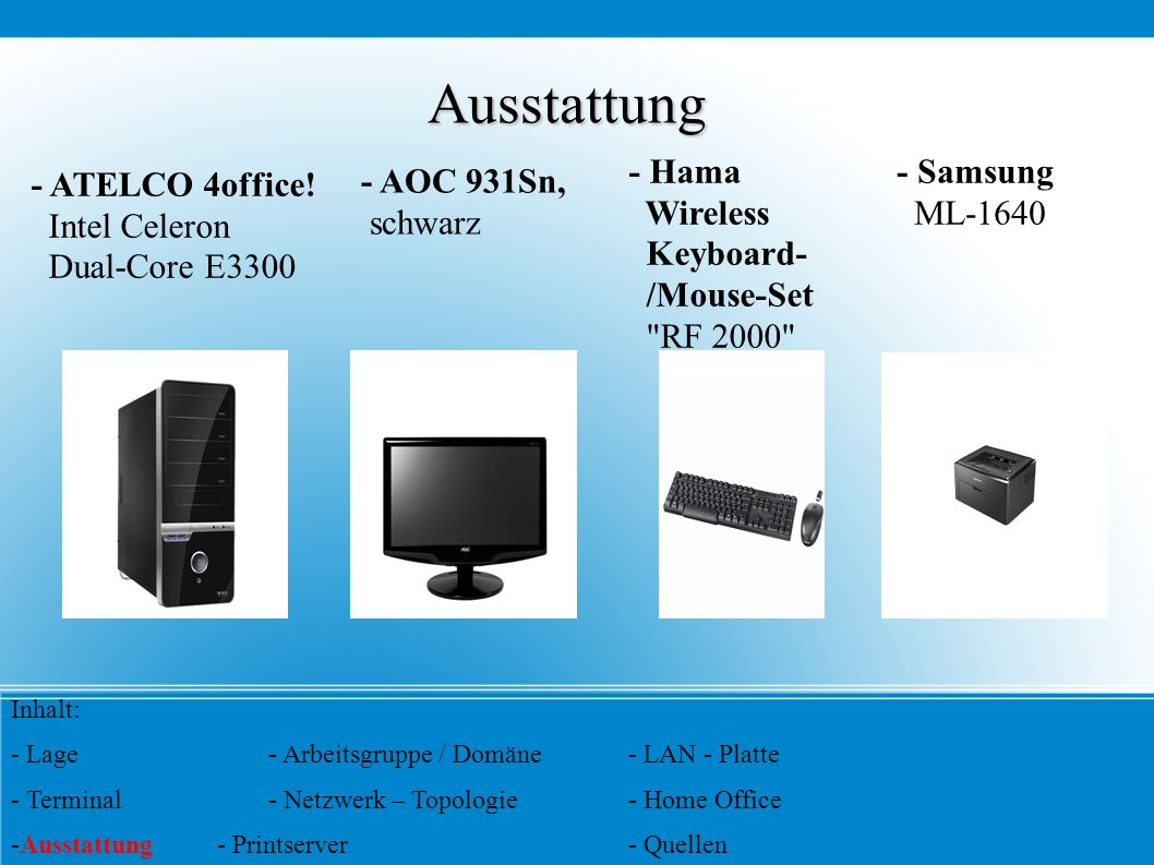 Ausstattung - Hama Wireless Keyboard- /Mouse-Set RF 2000 - Samsung