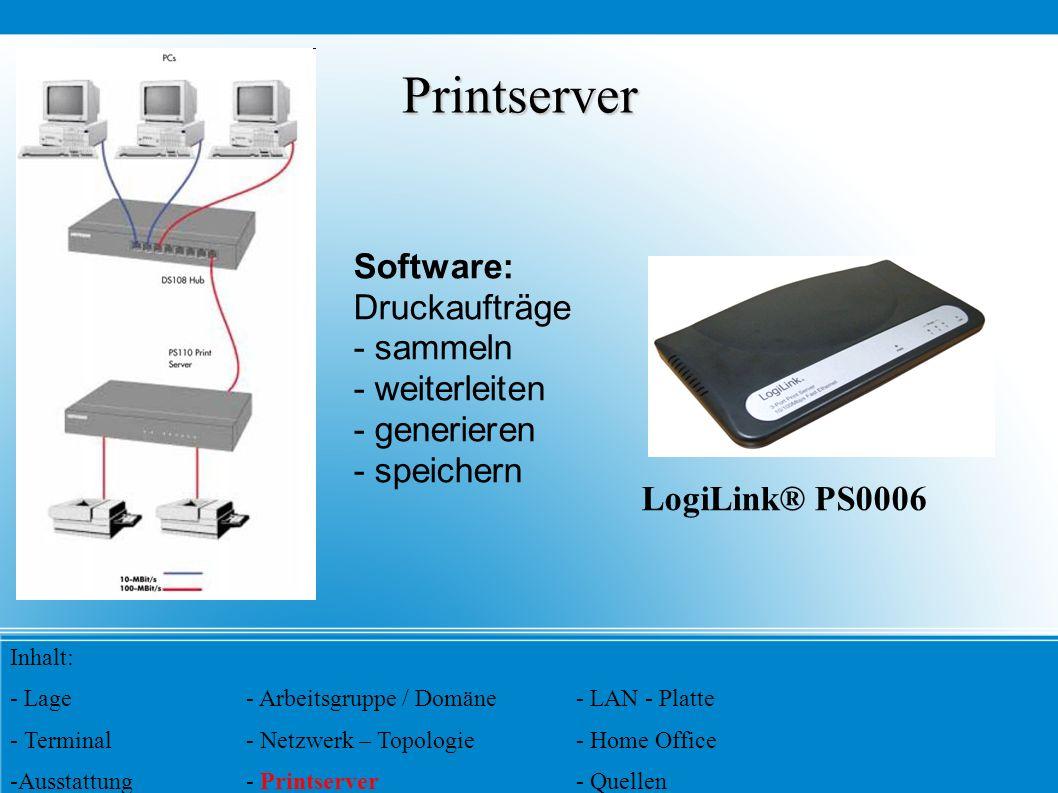 Printserver Software: Druckaufträge - sammeln - weiterleiten