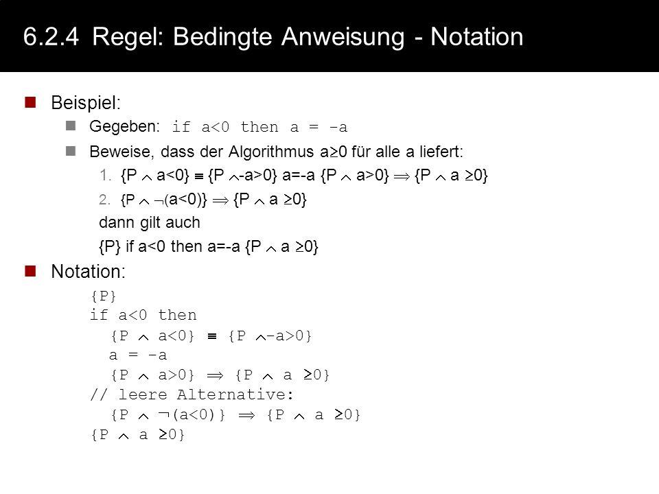 6.2.4 Regel: Bedingte Anweisung - Notation