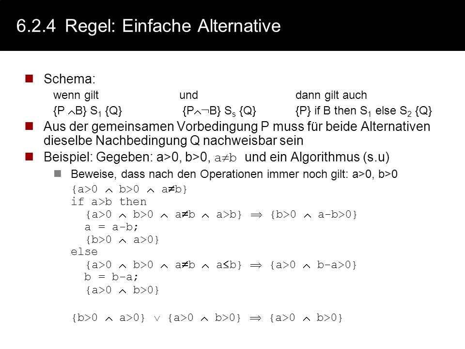 6.2.4 Regel: Einfache Alternative