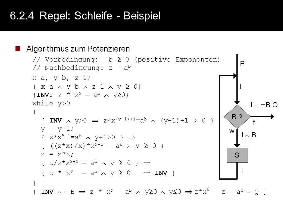 6.2.4 Regel: Schleife - Beispiel