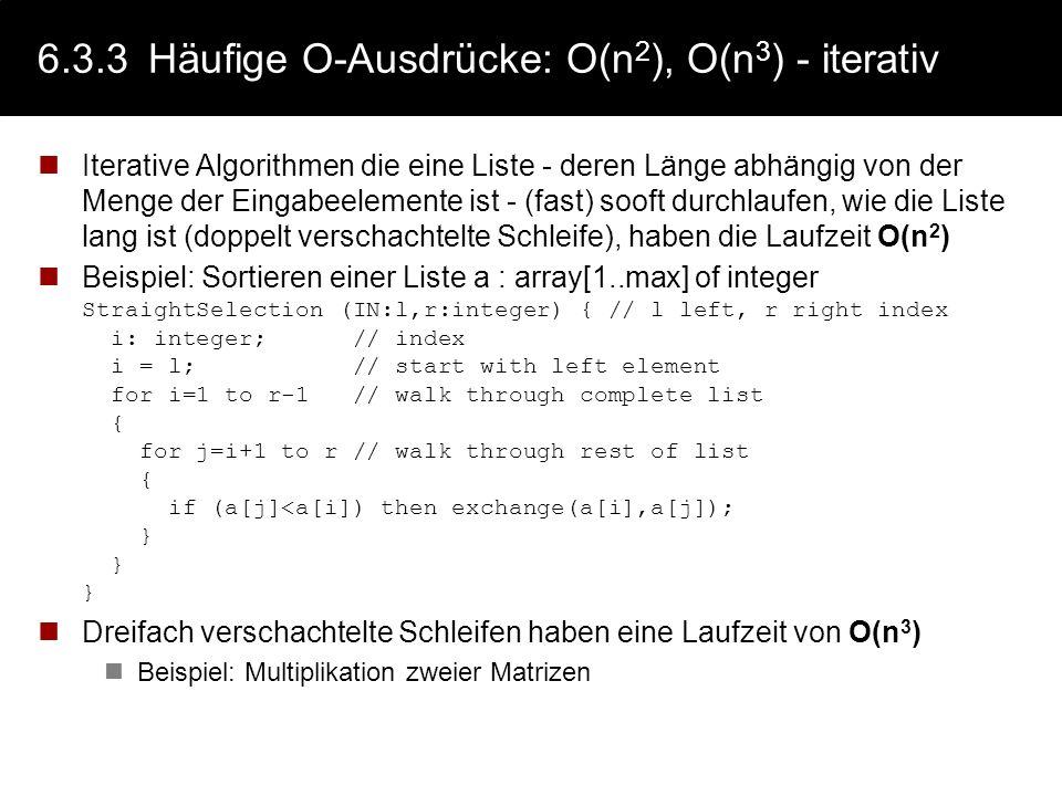 6.3.3 Häufige O-Ausdrücke: O(n2), O(n3) - iterativ