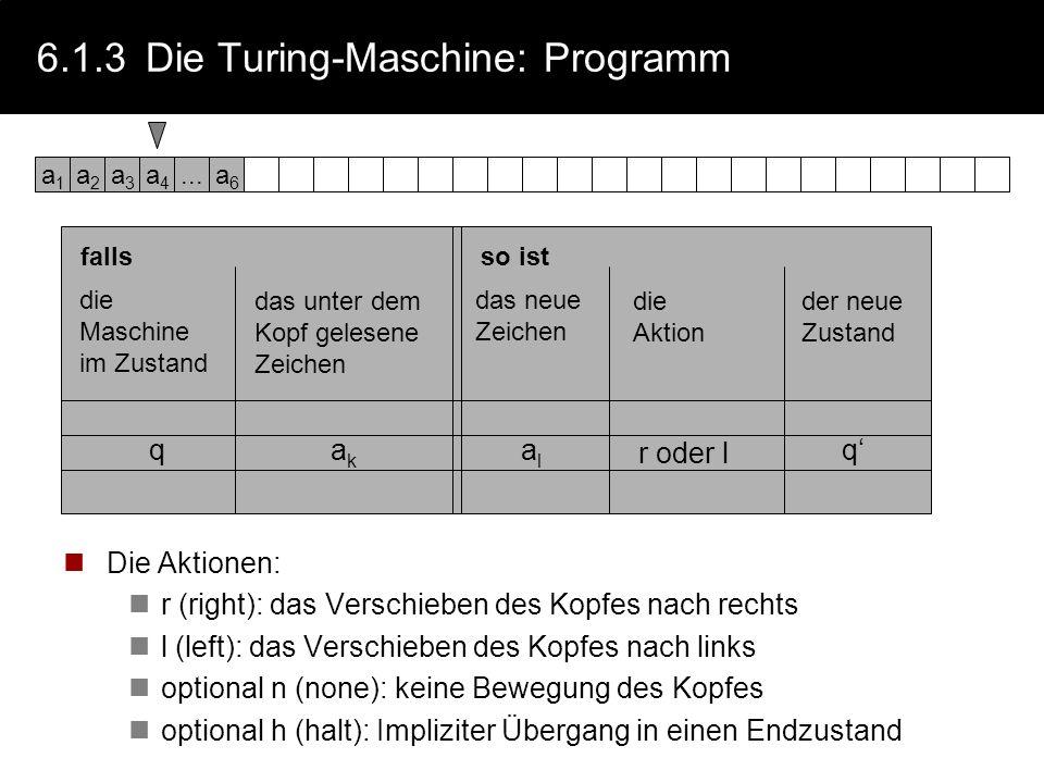 6.1.3 Die Turing-Maschine: Programm