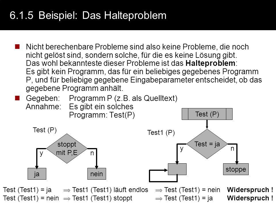 6.1.5 Beispiel: Das Halteproblem