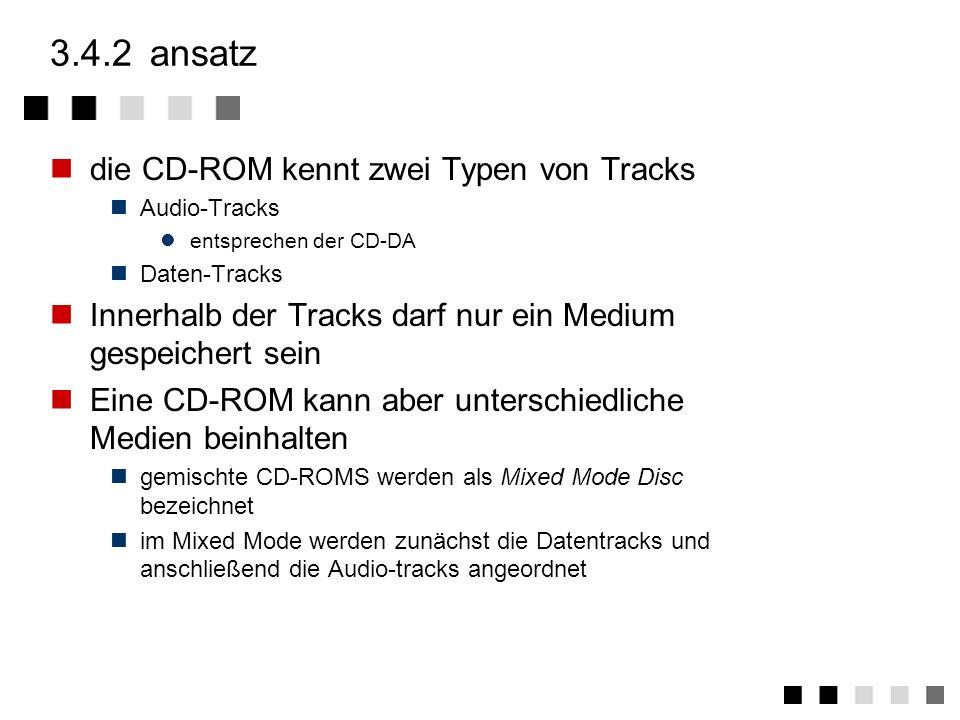 3.4.2 ansatz die CD-ROM kennt zwei Typen von Tracks