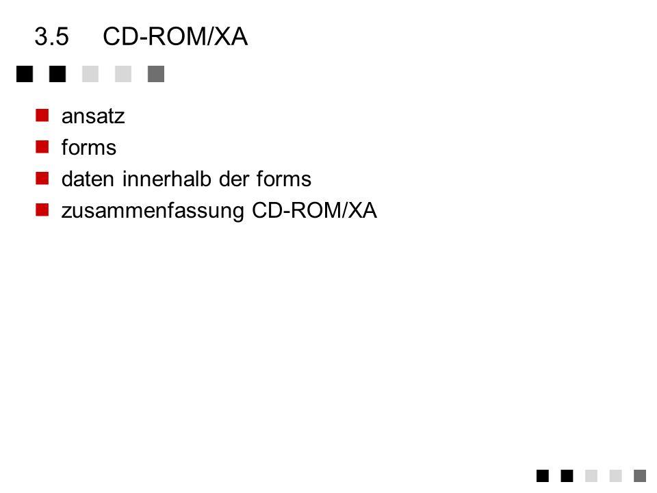 3.5 CD-ROM/XA ansatz forms daten innerhalb der forms