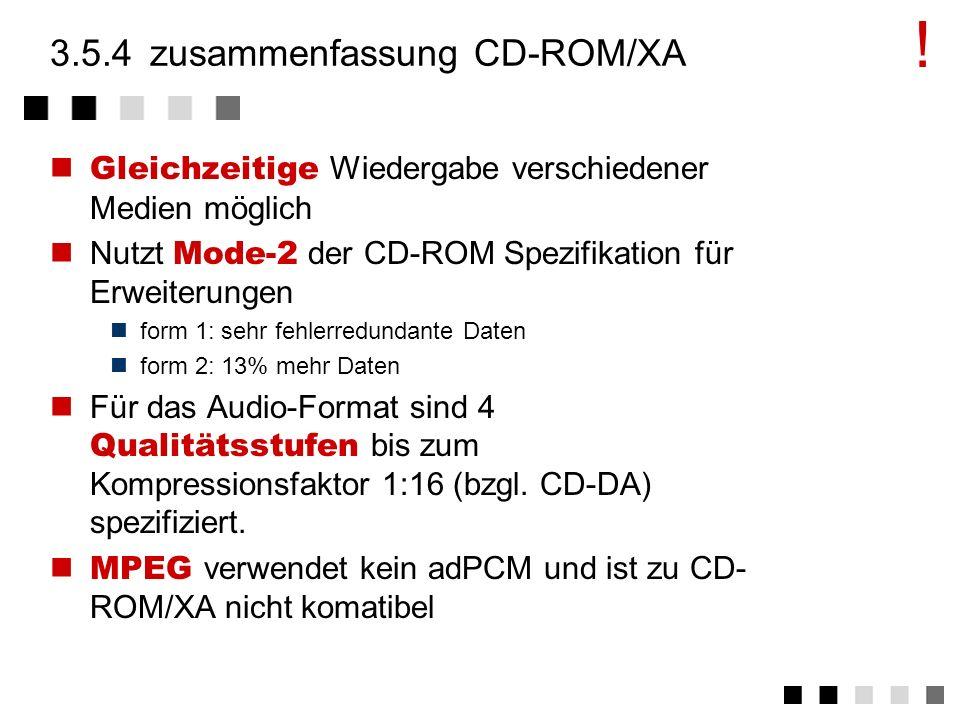 3.5.4 zusammenfassung CD-ROM/XA