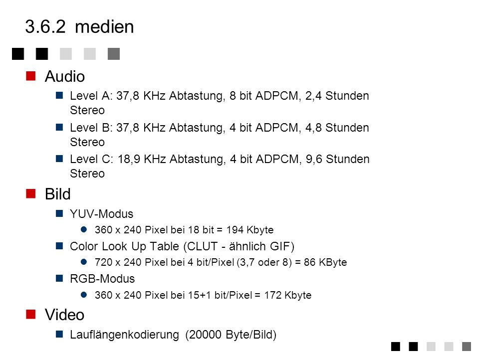 3.6.2 medien Audio Bild Video
